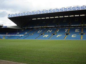 The East Stand of Leeds United's Elland Road stadium.