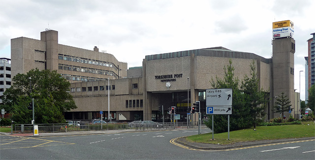 The Yorkshire Post Newspapers building on Wellington Street.