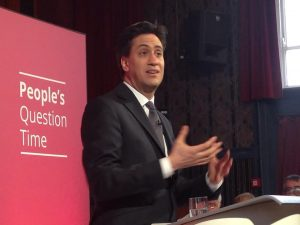 Ed Milliband at Guiseley Theatre