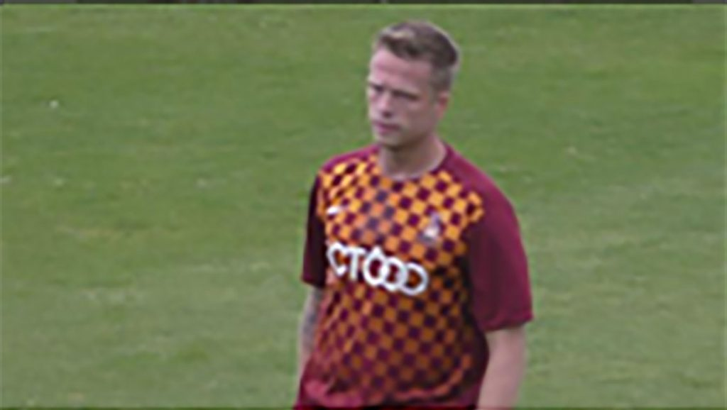 New Bradford signing Nathan Clarke in action