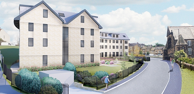 Artists impression of the extra care homes at Yeadon