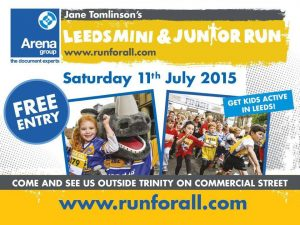 Leeds mini and junior run poster