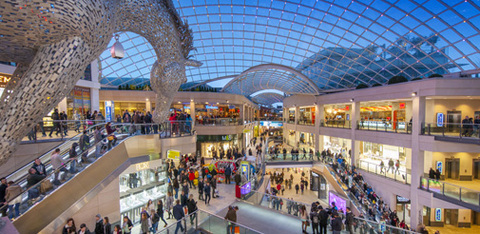Shoppers in the Trinity Leeds centre