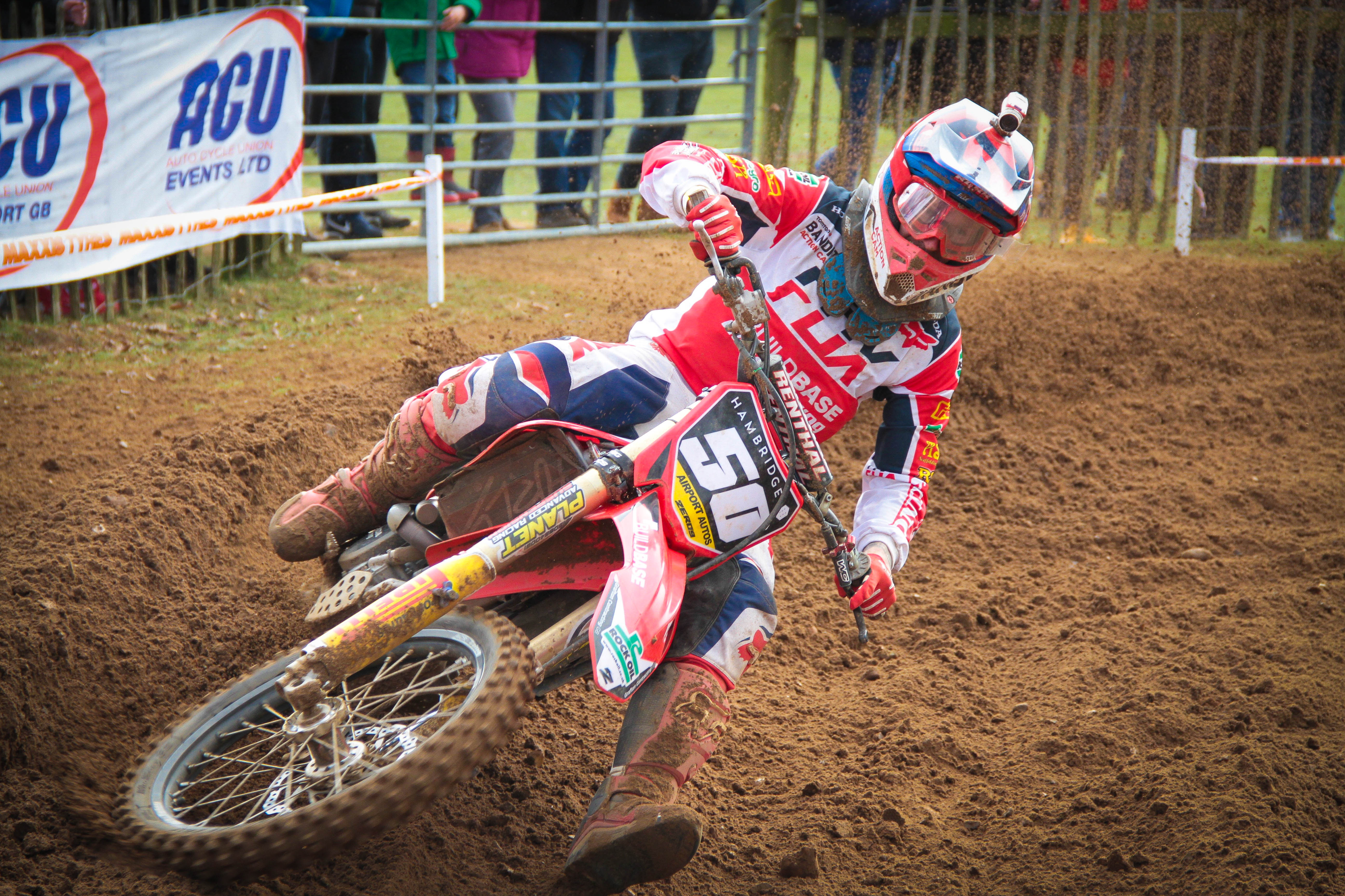 Professional rider Martin Barr in the first round of the British Championships Picture: Monika Parnarauskaite