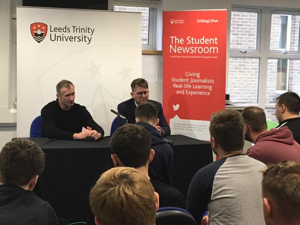 Jamie Peacock at Leeds Trinity University